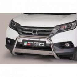 Bullbar anteriore OMOLOGATO HONDA CR-V 2012-2015 acciaio INOX mod Medium con marchio