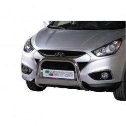 Bullbar anteriore OMOLOGATO HYUNDAI IX35 2010-2014 acciaio INOX mod Medium