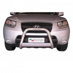 Bullbar anteriore OMOLOGATO HYUNDAI Santa Fe 2006-2010 acciaio INOX mod Medium