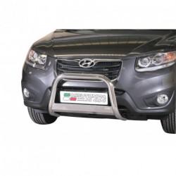 Bullbar anteriore OMOLOGATO HYUNDAI Santa Fe 2010-2012 acciaio INOX mod Medium con marchio
