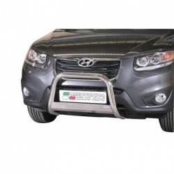 Bullbar anteriore OMOLOGATO HYUNDAI Santa Fe 2010-2012 acciaio INOX mod Medium