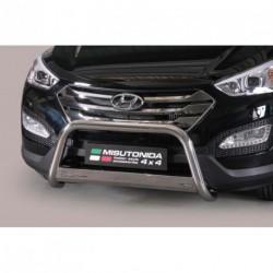 Bullbar anteriore OMOLOGATO HYUNDAI Santa Fe 2012-2015 acciaio INOX mod Medium con marchio