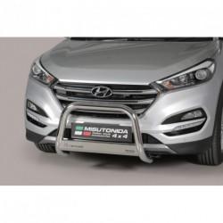 Bullbar anteriore OMOLOGATO HYUNDAI Tucson 2015- acciaio INOX mod Medium con marchio