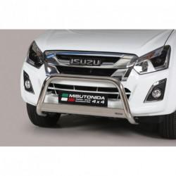 Bullbar anteriore OMOLOGATO ISUZU D-Max D.C. 2012- acciaio INOX mod Medium con marchio