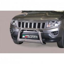 Bullbar anteriore OMOLOGATO JEEP Compass 2011- acciaio INOX mod Medium con marchio