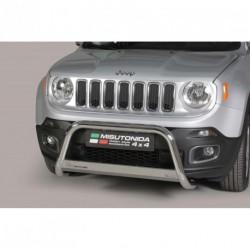 Bullbar anteriore OMOLOGATO JEEP Renegade 2014- acciaio INOX mod Medium