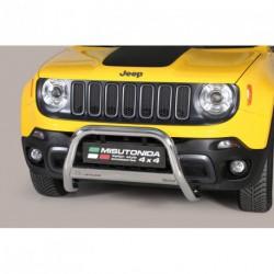 Bullbar anteriore OMOLOGATO JEEP Renegade Trailhawk acciaio INOX mod Medium