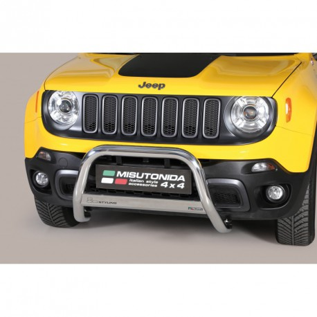 Bullbar anteriore OMOLOGATO JEEP Renegade 2014-2018 Trailhawk acciaio INOX mod Medium