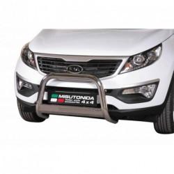 Bullbar anteriore OMOLOGATO KIA Sportage 2010-2014 acciaio INOX mod Medium con marchio