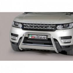 Bullbar anteriore OMOLOGATO LAND ROVER Range Rover Sport 2014- acciaio INOX mod Medium con marchio