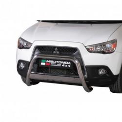 Bullbar anteriore OMOLOGATO MITSUBISHI ASX 2010- acciaio INOX mod Medium con marchio