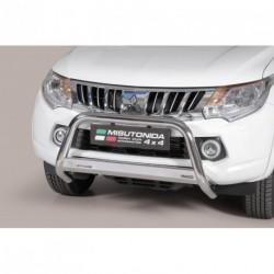 Bullbar anteriore OMOLOGATO MITSUBISHI L200 D.C./Club Cab 2015- acciaio INOX mod Medium