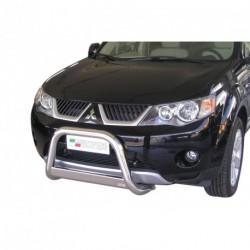 Bullbar anteriore OMOLOGATO MITSUBISHI Outlander 2007-2010 acciaio INOX mod Medium con marchio