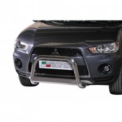 Bullbar anteriore OMOLOGATO MITSUBISHI Outlander 2007-2010 acciaio INOX mod Medium