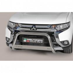 Bullbar anteriore OMOLOGATO MITSUBISHI Outlander 2015- acciaio INOX mod Medium con marchio