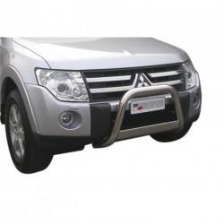 Bullbar anteriore OMOLOGATO MITSUBISHI Pajero 2007-2012 acciaio INOX mod Medium