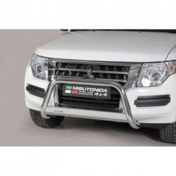 Bullbar anteriore OMOLOGATO MITSUBISHI Pajero 2015- acciaio INOX mod Medium