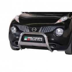 Bullbar anteriore OMOLOGATO NISSAN Juke 2010-2014 acciaio INOX mod Medium con marchio