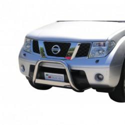 Bullbar anteriore OMOLOGATO NISSAN Pathfinder 2005-2010 acciaio INOX mod Medium con marchio