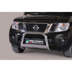 Bullbar anteriore OMOLOGATO NISSAN Pathfinder 2010-2014 acciaio INOX mod Medium con marchio