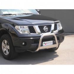 Bullbar anteriore OMOLOGATO NISSAN Navara 2005-2010 acciaio INOX mod Medium con marchio