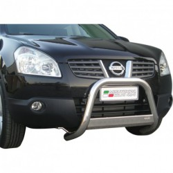 Bullbar anteriore OMOLOGATO NISSAN Qashqai 2007-2010 acciaio INOX mod Medium