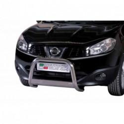 Bullbar anteriore OMOLOGATO NISSAN Qashqai 2010-2013 acciaio INOX mod Medium con marchio