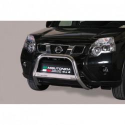 Bullbar anteriore OMOLOGATO NISSAN X-Trail 2010-2014 acciaio INOX mod Medium con marchio