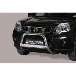 Bullbar anteriore OMOLOGATO NISSAN X-Trail 2010-2014 acciaio INOX mod Medium