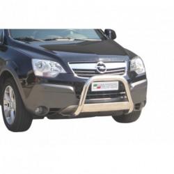 Bullbar anteriore OMOLOGATO OPEL Antara 2007-2011 acciaio INOX mod Medium con marchio