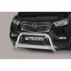 Bullbar anteriore OMOLOGATO OPEL Mokka  X acciaio INOX mod Medium