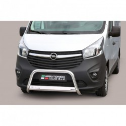 Bullbar anteriore OMOLOGATO OPEL Vivaro 2014- acciaio INOX mod Medium