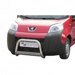 Bullbar anteriore OMOLOGATO PEUGEOT Bipper 2008- acciaio INOX mod Medium con marchio