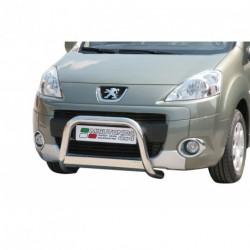 Bullbar anteriore OMOLOGATO PEUGEOT Partner 2008-2015 acciaio INOX mod Medium con marchio