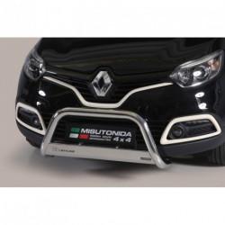Bullbar anteriore OMOLOGATO RENAULT Captur 2013- acciaio INOX mod Medium