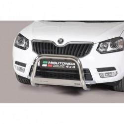 Bullbar anteriore OMOLOGATO SKODA Yeti 2014- acciaio INOX mod Medium con marchio