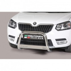 Bullbar anteriore OMOLOGATO SKODA Yeti 2014- acciaio INOX mod Medium