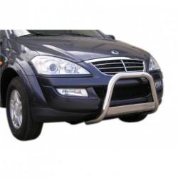 Bullbar anteriore OMOLOGATO SSANGYONG Kyron 2007- acciaio INOX mod Medium con marchio