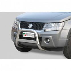 Bullbar anteriore OMOLOGATO SUZUKI Grand Vitara 2005-2008 acciaio INOX mod Medium con marchio