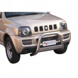 Bullbar anteriore OMOLOGATO SUZUKI Jimny Diesel/Benzina  2006-2012 acciaio INOX mod Medium con marchio
