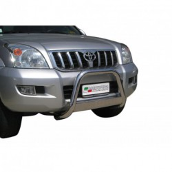 Bullbar anteriore OMOLOGATO TOYOTA Land Cruiser KDJ 120/125 2003- acciaio INOX mod Medium