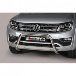 Bullbar anteriore OMOLOGATO VOLKSWAGEN Amarok (Highline) 2010- / Amarok V6 2016 acciaio INOX mod Medium
