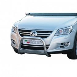 Bullbar anteriore OMOLOGATO VOLKSWAGEN Tiguan Sport & Style/ Trend & Fun 2007-2011 acciaio INOX mod Medium