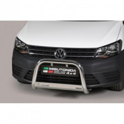 Bullbar anteriore OMOLOGATO VOLKSWAGEN Caddy 2015- acciaio INOX mod Medium