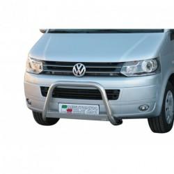 Bullbar anteriore OMOLOGATO VOLKSWAGEN T5 2009-2015 acciaio INOX mod Medium con marchio