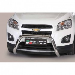 Bullbar anteriore OMOLOGATO CHEVROLET Trax 2013-2016 acciaio INOX mod Medium