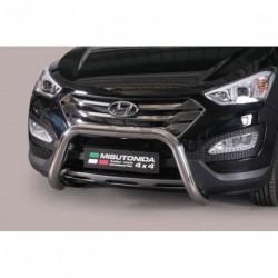 Bullbar anteriore OMOLOGATO HYUNDAI Santa Fe 2012-2015 acciaio INOX mod Medium