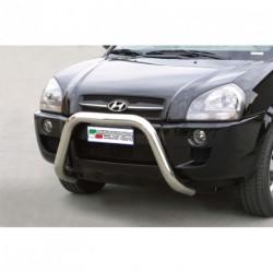 Bullbar anteriore OMOLOGATO HYUNDAI Tucson 2004-2010 acciaio INOX mod Medium
