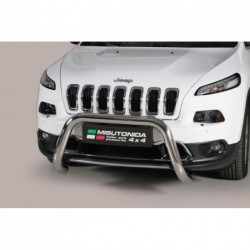 Bullbar anteriore OMOLOGATO JEEP New Cherokee 2014- acciaio INOX mod Medium