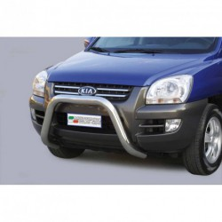 Bullbar anteriore OMOLOGATO KIA Sportage 2004-2008 acciaio INOX mod Medium